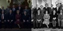 <p>Season 4 will dive into the Prime Minister term of Margaret Thatcher. One of the most important moments in the season's trailer? Thatcher's burgundy suit, which she wore in her historic cabinet portrait. </p>