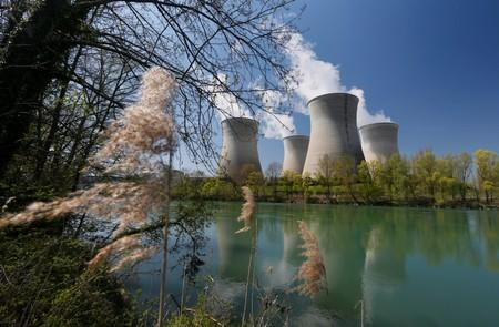 FILE PHOTO: Steam rises from the cooling towers of the Electricite de France nuclear power station of Le Bugey in Saint-Vulbas