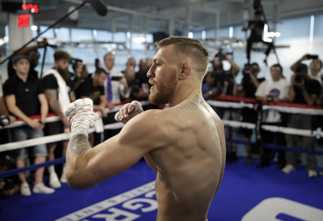 Conor McGregor is not here for your jokes. (AP)