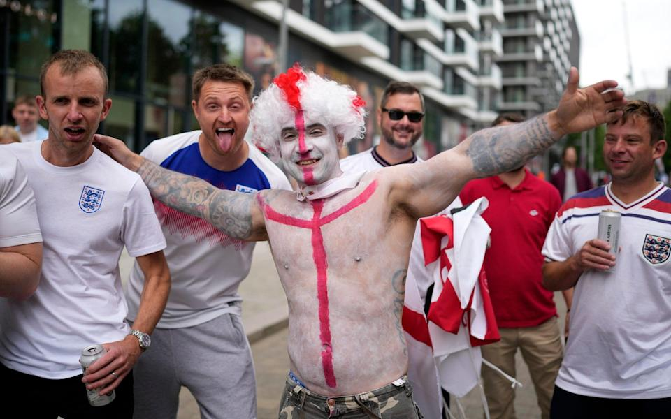 England fans are getting ready - AP