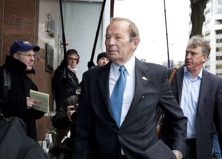 File photo of Pat Bowlen, owner of the Denver Broncos, arriving to negotiations between the NFL and the NFLPA in Washington