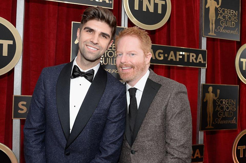 "<p>Jesse and Justin are dads now! Who wants to guess how many <em>Modern Family</em> jokes they've had to sit through about this?</p><p><a href=""https://people.com/parents/jesse-tyler-ferguson-welcomes-baby-beckett-mercer-justin-mikita/"" rel=""nofollow noopener"" target=""_blank"" data-ylk=""slk:The couple confirmed their happy news to People"" class=""link rapid-noclick-resp"">The couple confirmed their happy news to <em>People</em></a> in July: ""Jesse and Justin welcomed their little bundle of joy Beckett Mercer Ferguson-Mikita on July 7, 2020,"" their rep told the outlet. ""The new parents are overjoyed and excited for this new journey as a family of three.""</p>"