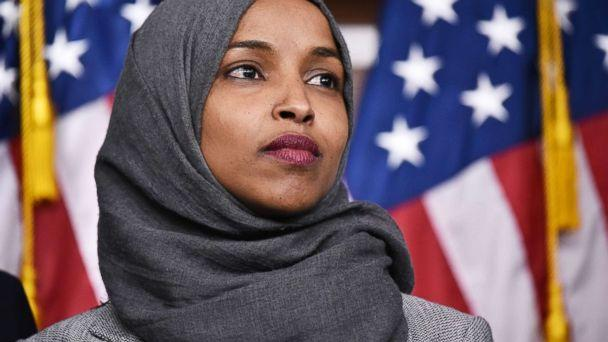 PHOTO: Ilhan Omar, D-MN, attends a press conference in the House Visitors Center at the Capitol in Washington, D.C., Nov. 30, 2018. (Mandel Ngan/AFP/Getty Images)
