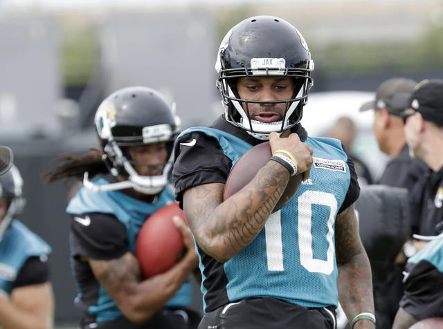Jacksonville Jaguars wide receiver Donte Moncrief has drawn plenty of targets in recent weeks. (AP Photo/John Raoux)