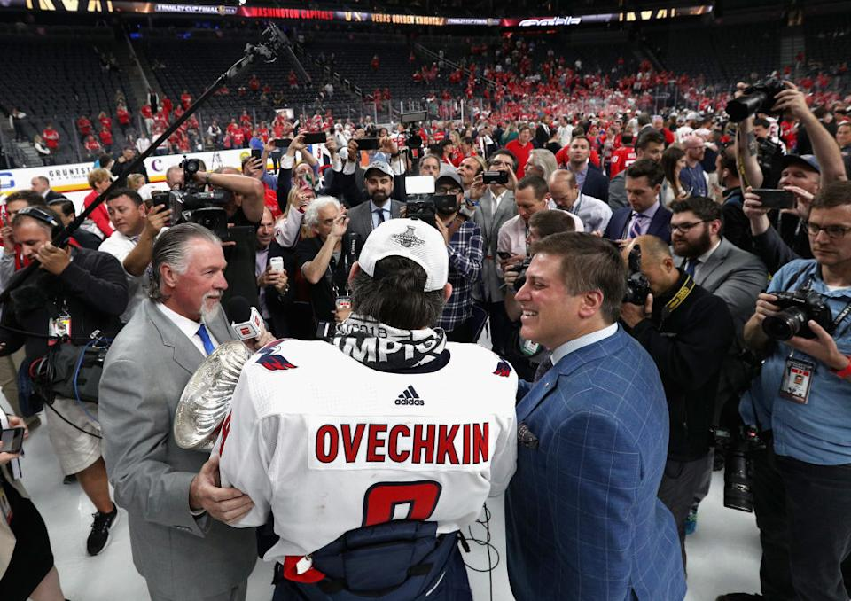 The NHL is back on ESPN, and everything from the iconic theme song to the production and personalities had hockey fans talking on Tuesday. (Getty)
