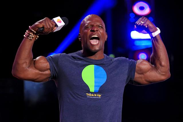 <p>Terry Crews won a football scholarship for Western Michigan University and played defensive end. The WMU Broncos won the 1988 Mid-American Conference Championship and Crews earned All-Conference honors. The 'Brooklyn 99' actor entered the 1991 NFL Draft was picked by the Los Angeles Rams. </p>