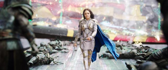 Tessa Thompson as Valkyrie in 'Thor: Ragnarok' (Photo: Marvel/ Walt Disney Studios Motion Pictures /Courtesy Everett Collection)