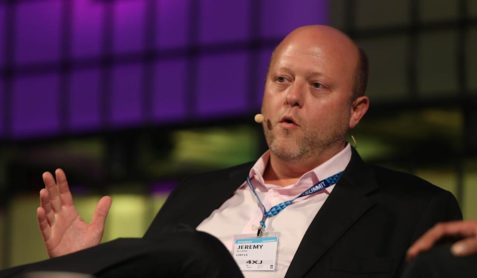 Jeremy Allaire of financial start up 'Ciricle' speaking at the Dublin web summit being held at the RDS in Dublin.   (Photo by Niall Carson/PA Images via Getty Images)