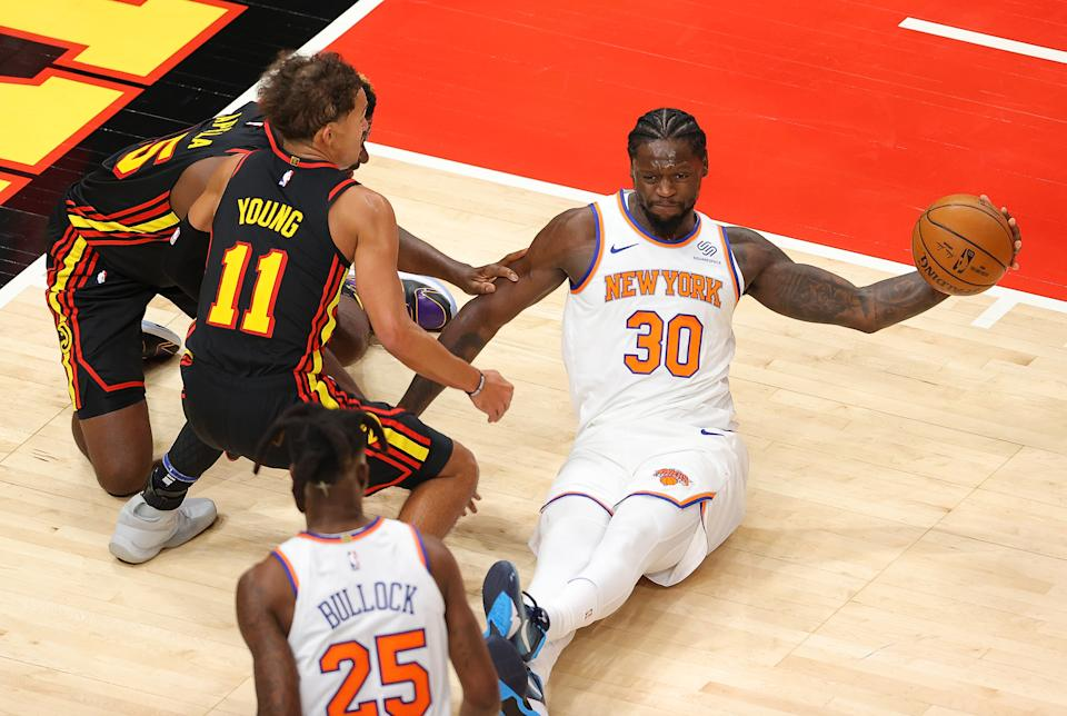 Can Julius Randle and the Knicks outmuscle Trae Young and the Hawks? (Kevin C. Cox/Getty Images)