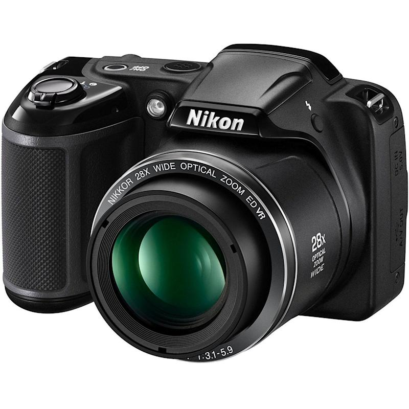 "For less than market price, this <a href=""https://www.amazon.com/Nikon-Coolpix-L340-Digital-Camera/dp/B01HN40EBA/ref=sr_1_8?s=electronics&ie=UTF8&qid=1510080756&sr=1-8&keywords=camera"" target=""_blank"">Certified Refurbished camera</a> is tested and certified to look and work like new."