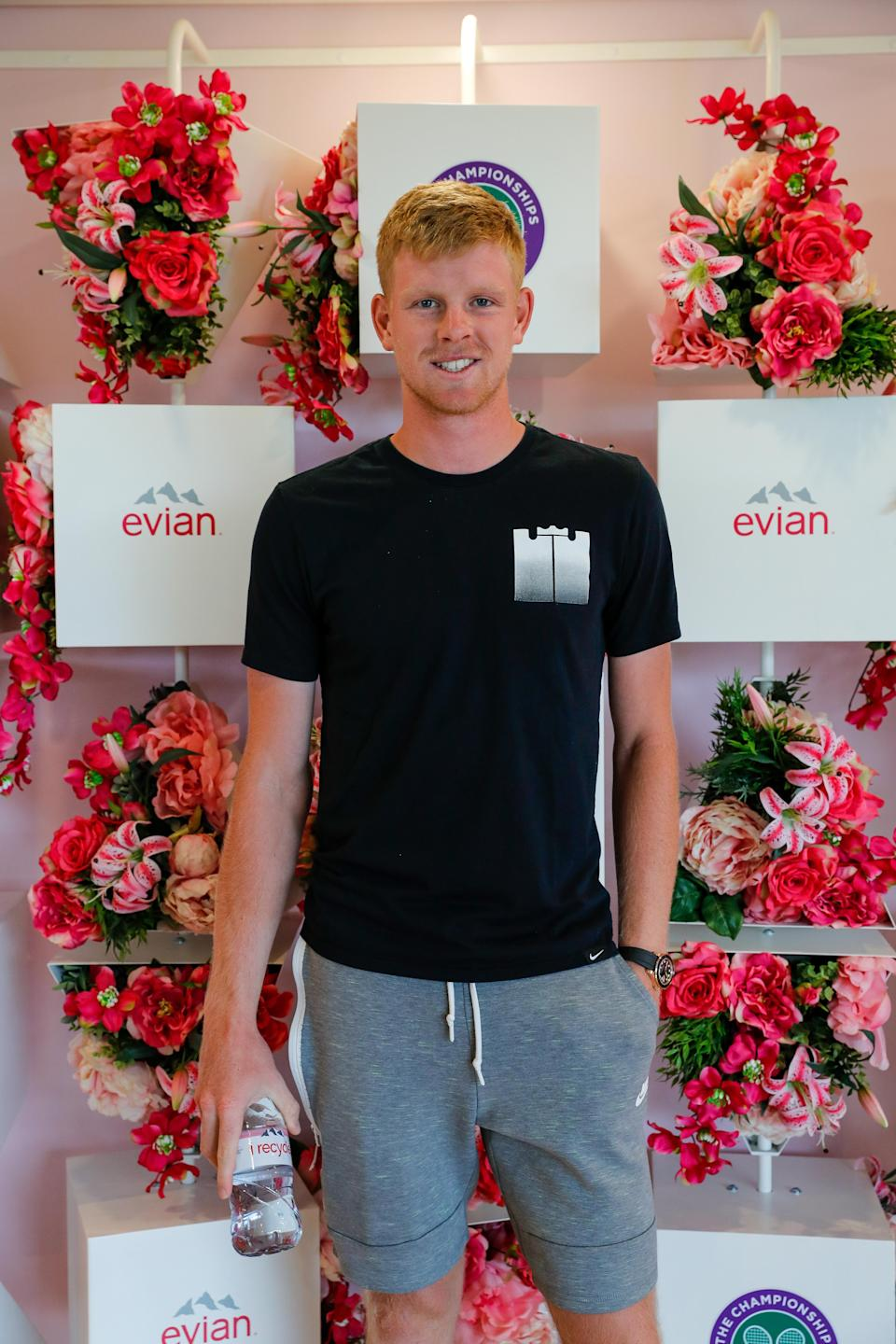 Kyle Edmund is helping evian reward key workers with Wimbledon tickets