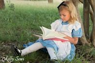 """<p>Know your way around a sewing machine? You can whip up this sweet Alice ensemble with a free pattern. </p><p><strong>Get the free pattern at <a href=""""https://mellysews.com/alice-in-wonderland-costume/"""" rel=""""nofollow noopener"""" target=""""_blank"""" data-ylk=""""slk:Melly Sews"""" class=""""link rapid-noclick-resp"""">Melly Sews</a>.</strong> </p><p><a class=""""link rapid-noclick-resp"""" href=""""https://www.amazon.com/Fabric-Editions-Craft-45-Inch-White/dp/B00167YJVC/ref=pd_sbs_201_t_2/136-3696388-8662061?tag=syn-yahoo-20&ascsubtag=%5Bartid%7C10050.g.29343502%5Bsrc%7Cyahoo-us"""" rel=""""nofollow noopener"""" target=""""_blank"""" data-ylk=""""slk:SHOP WHITE FABRIC"""">SHOP WHITE FABRIC</a></p>"""