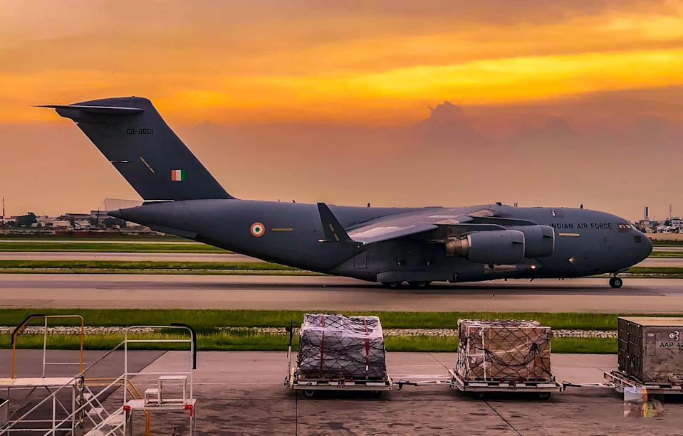 IAF airlift the oxygen containers from Bangkok last night. The airlift is being coordinated by MHA. It will enhance oxygen availability amid the current surge.