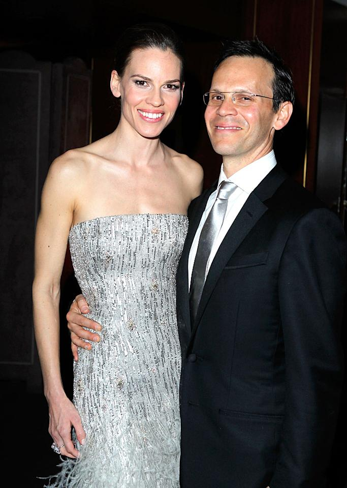 "Hilary Swank's romance with agent John Campisi was hot for five years before it was announced in August that they had split back in May. The former Mrs. Chad Lowe offered a hint of her feelings about being with one person forever during a 2010 interview with <em>InStyle</em>. ""Friends of mine and I talk about this. Does someone come into your life for a certain time, and then you are supposed to go your separate ways?"" she wondered aloud. ""There's a part of me that thinks that's true."" (2/27/2011)"