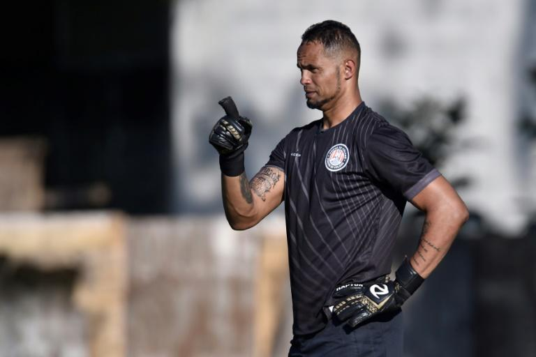 Rose Costa, the coach of Rio Branco's (Acre state, northern Brazil) women's team, resigned after the club announced the transfer of goalkeeper Bruno Fernandes, seen in a file image, who was convicted of the murder of his former lover Eliza Samudio