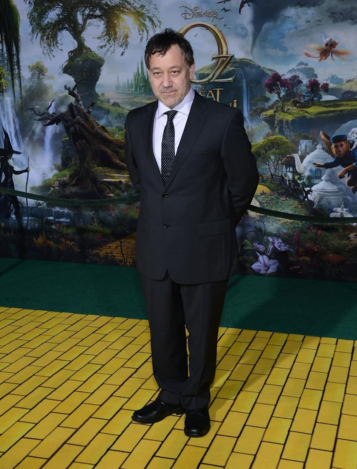 "HOLLYWOOD, CA - FEBRUARY 13:  Director Sam Raimi attends the premiere Of Walt Disney Pictures' ""Oz The Great And Powerful"" at the El Capitan Theatre on February 13, 2013 in Hollywood, California.  (Photo by Jason Kempin/Getty Images)"