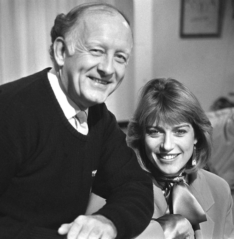 Frank Bough and Selina Scott, the hosts of BBC Breakfast Time.PA