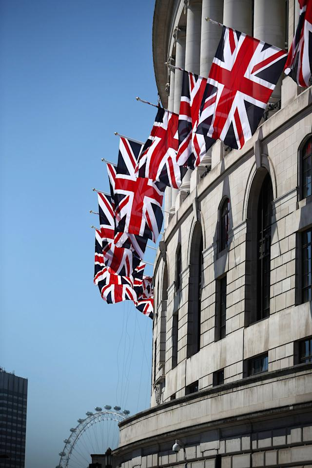 LONDON, ENGLAND - MAY 25:  Unilever House is decorated with Union flags on May 25, 2012 in London, England. The capital is preparing to hold four days of celebrations over the first weekend in June to commemorate Queen Elizabeth II's Diamond Jubilee. (Photo by Peter Macdiarmid/Getty Images)