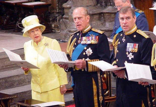 The Queen, Philip and Andrew