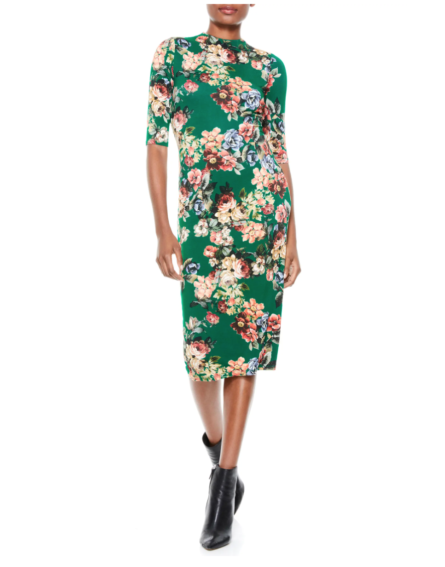 Alice + Olivia Delora Mock Neck Body-Con Dress. Image via Nordstrom.