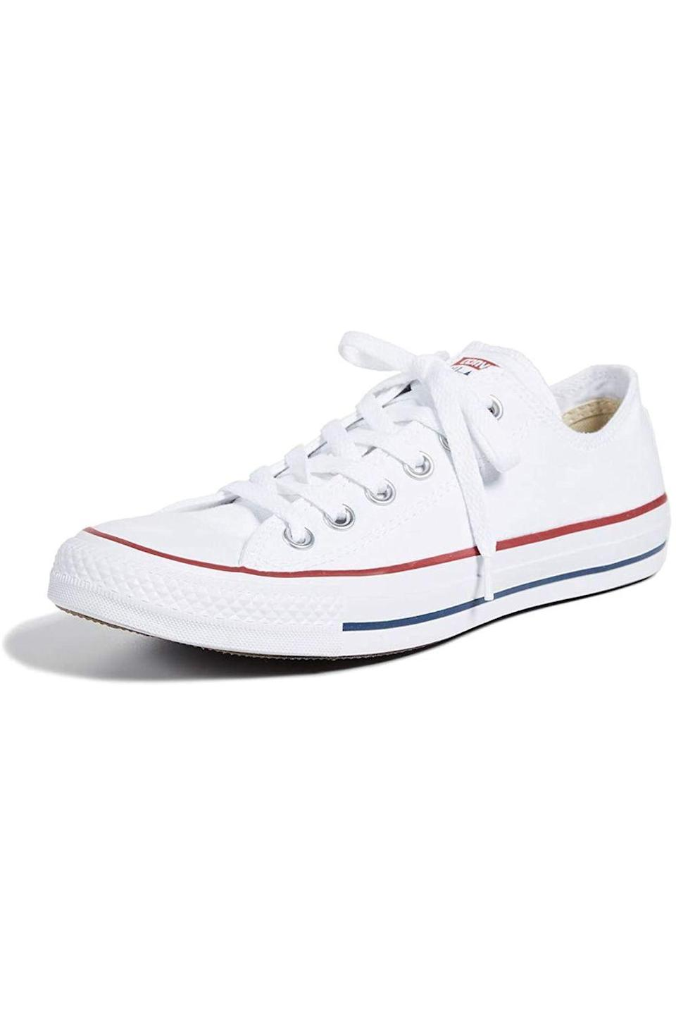 """<p><strong>Converse</strong></p><p>amazon.com</p><p><strong>$69.99</strong></p><p><a href=""""https://www.amazon.com/dp/B01LZTOSEE?tag=syn-yahoo-20&ascsubtag=%5Bartid%7C10049.g.36149947%5Bsrc%7Cyahoo-us"""" rel=""""nofollow noopener"""" target=""""_blank"""" data-ylk=""""slk:Shop Now"""" class=""""link rapid-noclick-resp"""">Shop Now</a></p><p>You can truly never go wrong with giving a pair of classic sneakers to anyone on your list, and it doesn't get more classic than a pair of Chucks.</p>"""