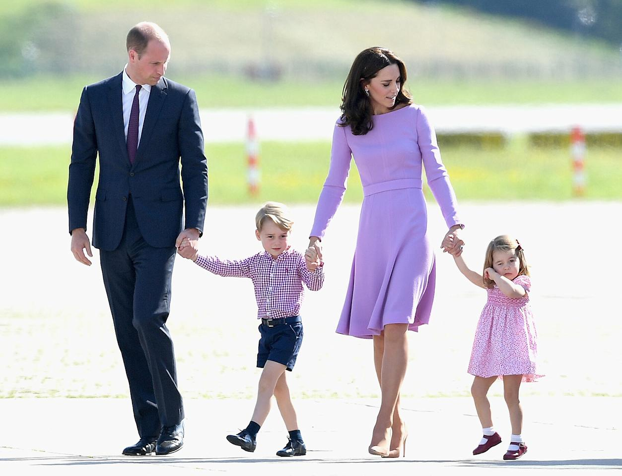 <p>The Duchess of Cambridge stunned in lilac on her final day in Germany.</p>