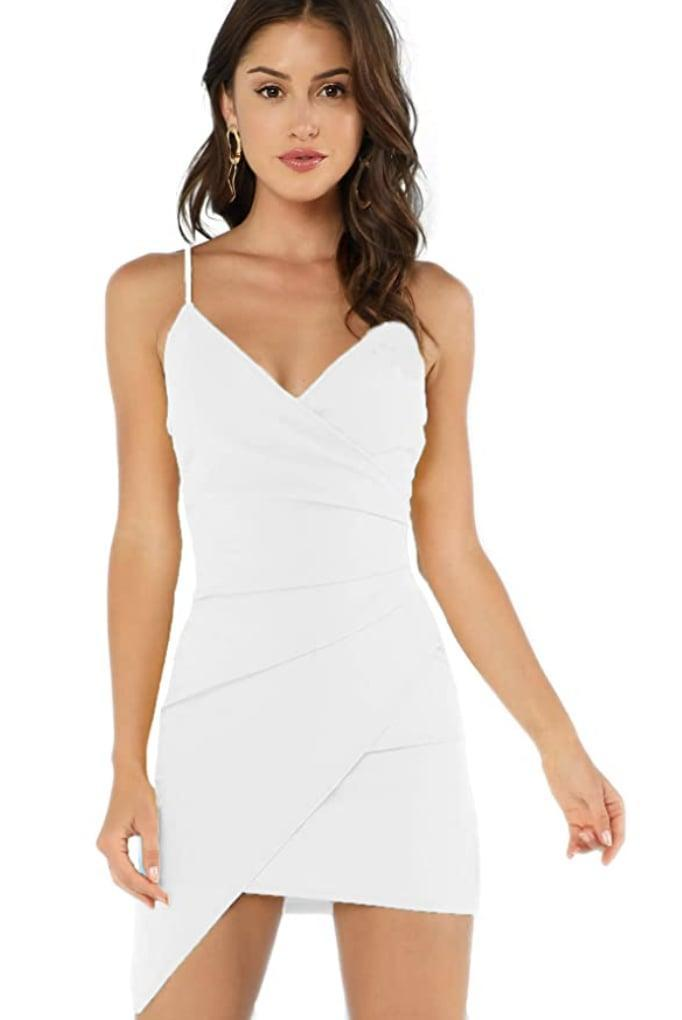 <p>Show off your shoulders in this figure-sculpting <span>Verdusa Ruched Bodycon Dress</span> ($19-$29).</p>