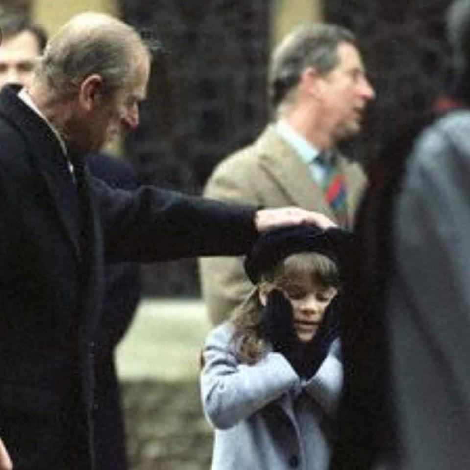 Princess Eugenie and her grandfather the Duke of Edinburgh. The princess posted the photo in tribute