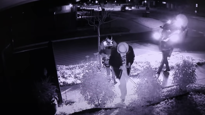 Jordan Hale claims the police threatened him and footage shows the officers followed him onto his property. Source: Facebook/The Yemini Report