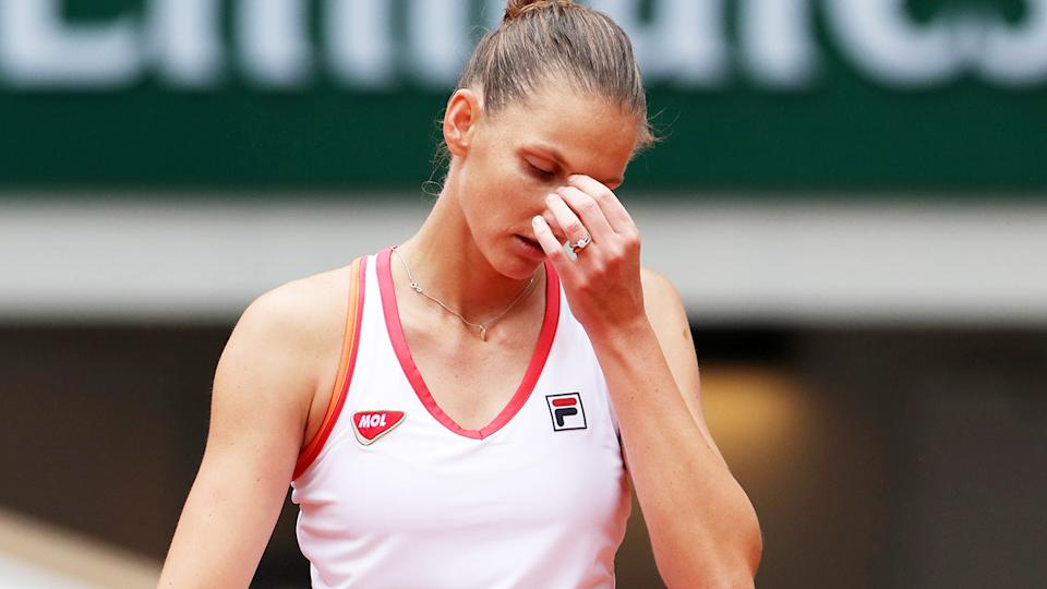 Karolina Pliskova, pictured here in action at the French Open.
