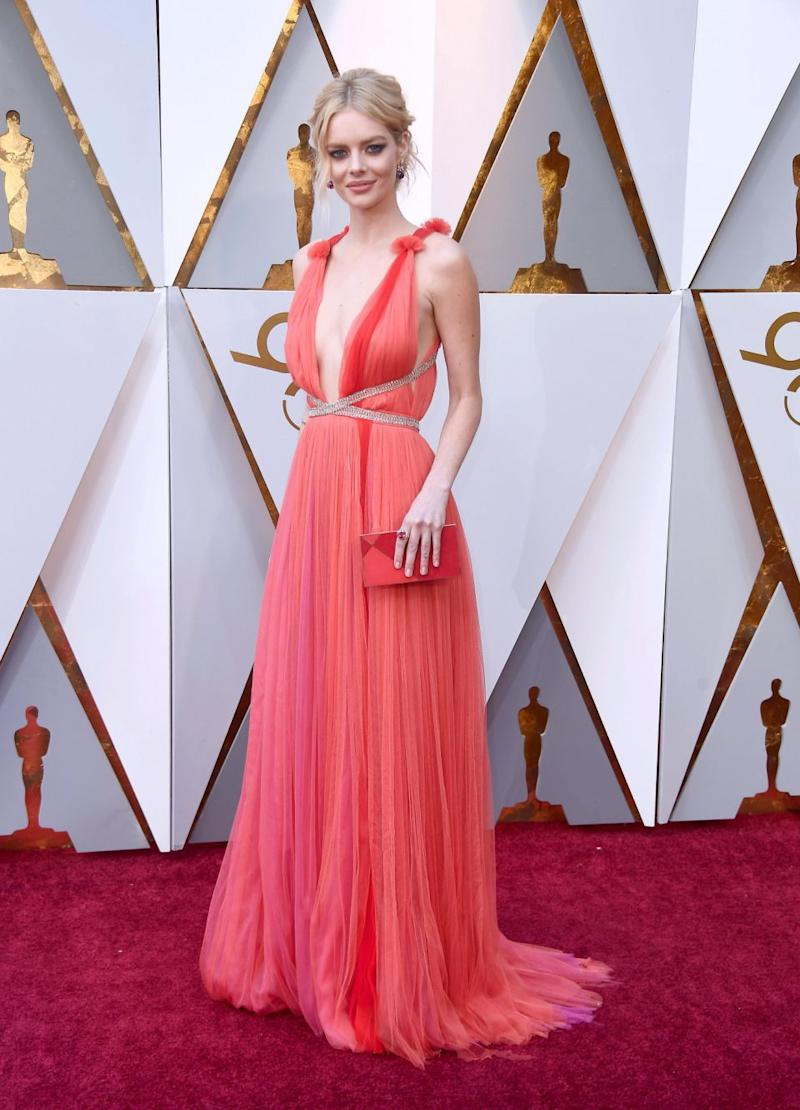 Fellow Aussie Samara Weaving was also on the red carpet. Photo: Getty Images