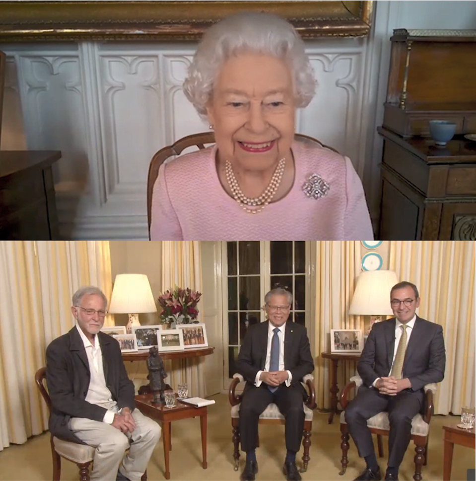 The Queen calling from Windsor Castle