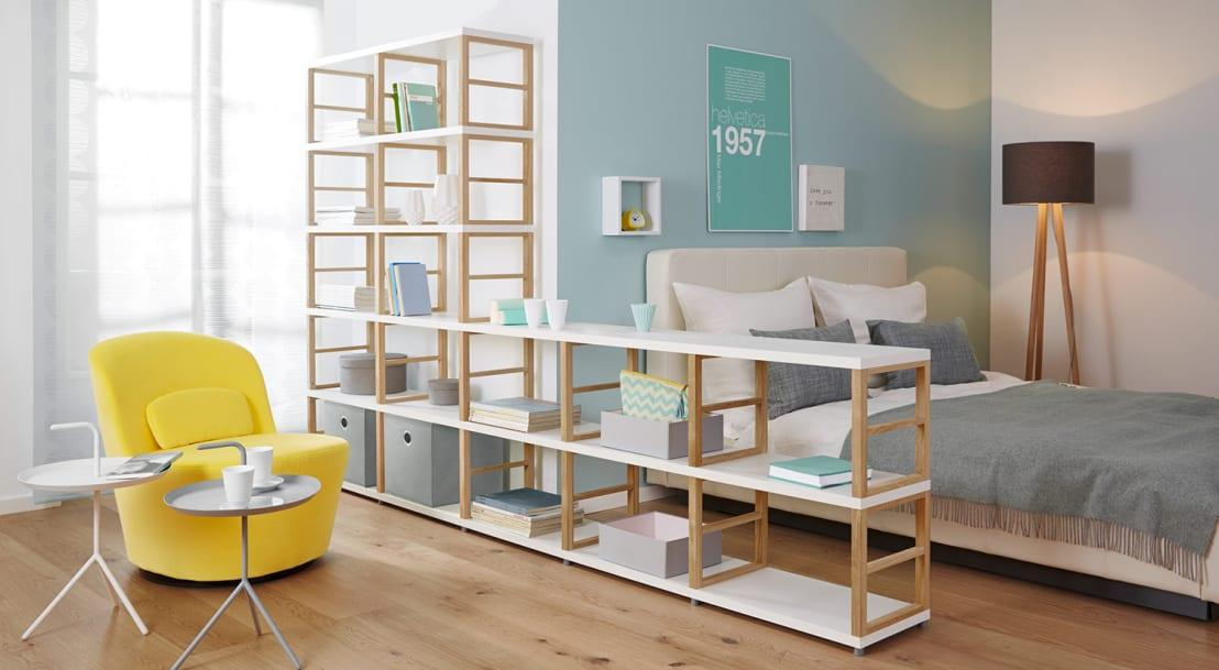 "<p>Whether you'd like just a few shelves to show off some decorative elements or you're jumpstarting your own little library, when it comes to choosing the style of your modern bookcase, various options will be presented. Some of the most common styles include:</p><p><strong>• Standard.</strong> Standard bookcases are the workhorses of shelving units. They're typically made of wood or MDF (medium-density fibreboard), and designed with evenly spaced or adjustable shelves and a closed-back frame. </p><p><strong>• Étagère. </strong>An étagère is more delicate than a standard bookcase, featuring an open back and shelves that are often made from glass. Where the standard bookcase is designed for function, the étagère focuses on form. </p><p><strong>• Ladder or leaning.</strong> Ladder-style bookcases are designed to lean against the wall, often with ""stepped"" shelves that gradually decrease in size from the ground up.  </p><p><strong> • Corner.</strong> Corner bookcases, built at a right angle, are perfectly shaped for wedging into tight nooks. </p><p><strong>• Scaffold.</strong> Named for their looks, these bookcases are fashioned from shelving suspended between two ladder-like supports. </p><p><strong>• Cube.</strong> Cube bookcases are divided both horizontally and vertically to create cubby-like sections that can house both books and storage baskets. </p><p><strong>• Built-in. </strong>Built-in bookcases are what you're opting for if you want to create a wall (or room) of floor-to-ceiling shelves. However, choosing this style requires more than a quick shopping trip - you'll need to work with a contractor to create a custom plan designed to fit perfectly into your space.</p>  Credits: homify / Regalraum UK"