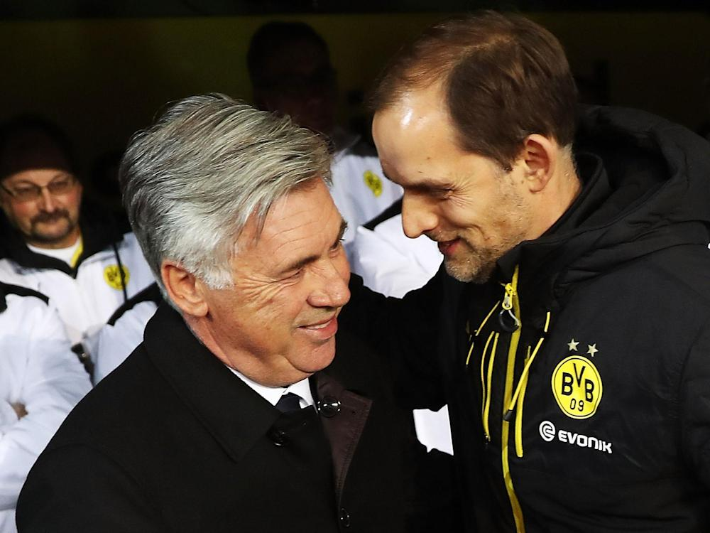 Both Ancelotti and Tuchel face an uphill battle to make it through to the Champions League's last four: Getty
