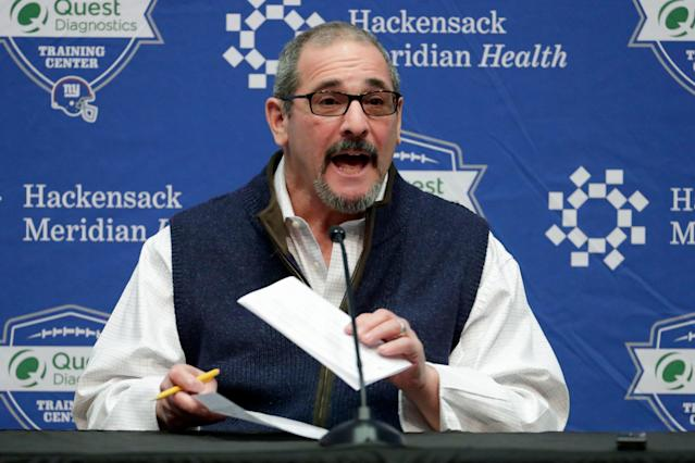 Dave Gettleman swears he has a plan. We just don't know what it is. (AP)