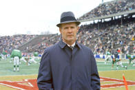 """FILE - This is a Dec. 1967 file photo showing Dallas Cowboys football coach Tom Landry. Landry built that franchise from the ground up to challenge the Packers for NFL dominance at the end of the 1960s and later become known as """"America's Team."""" (AP Photo/File)"""