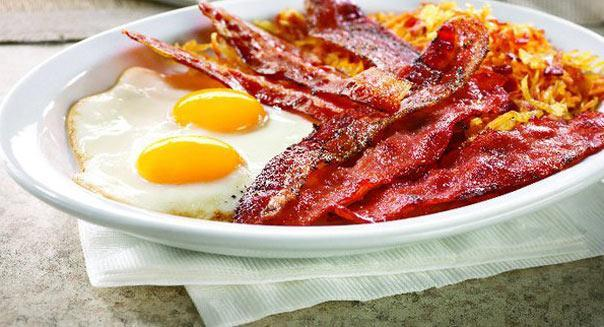 Bacon is free at Denny's
