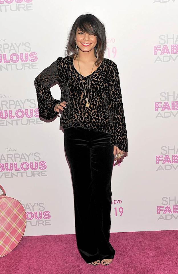 """Speaking of mistakes, check out the messy mane and outfit former """"High School Musical"""" hottie Vanessa Hudgens wore to the DVD release party for """"Sharpay's Fabulous Adventure."""" What do you think Vanessa's ex, Zac Efron, thought when he bumped into her on the pink carpet? John M. Heller/<a href=""""http://www.gettyimages.com/"""" target=""""new"""">GettyImages.com</a> - April 6, 2011"""