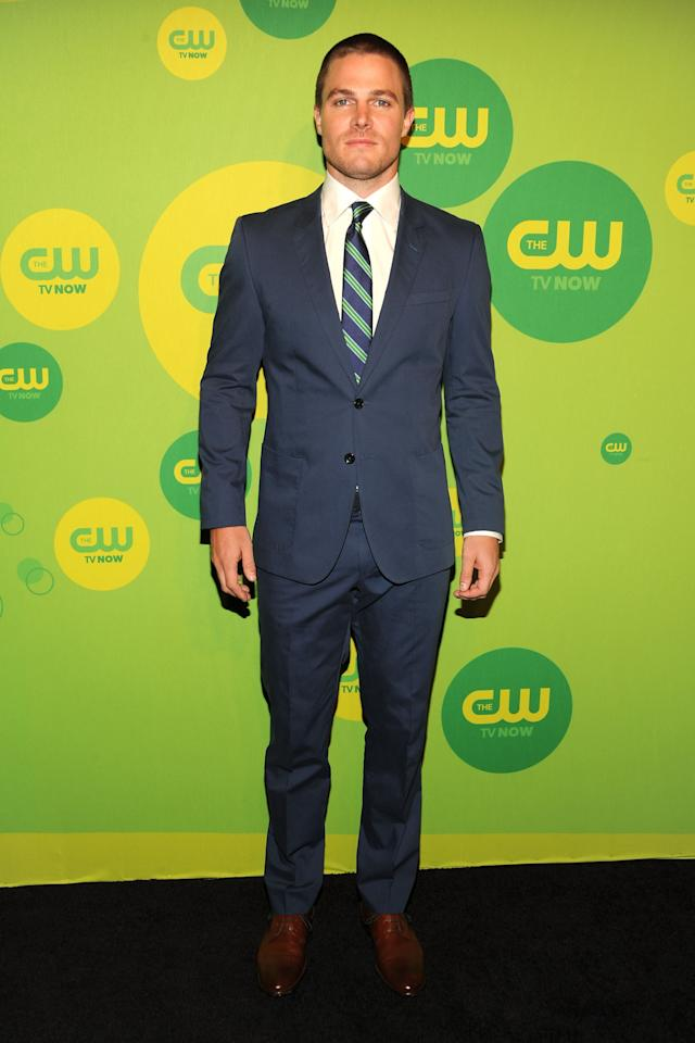 NEW YORK, NY - MAY 16:  Actor Stephen Amell attends The CW Network's New York 2013 Upfront Presentation at The London Hotel on May 16, 2013 in New York City.  (Photo by Ben Gabbe/Getty Images)
