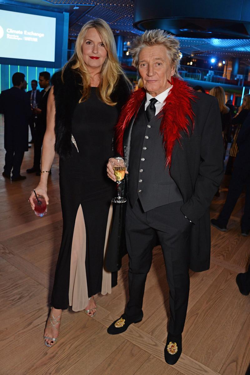 Loved-up: Sir Rod with his wife Penny Lancaster (Dave Benett)