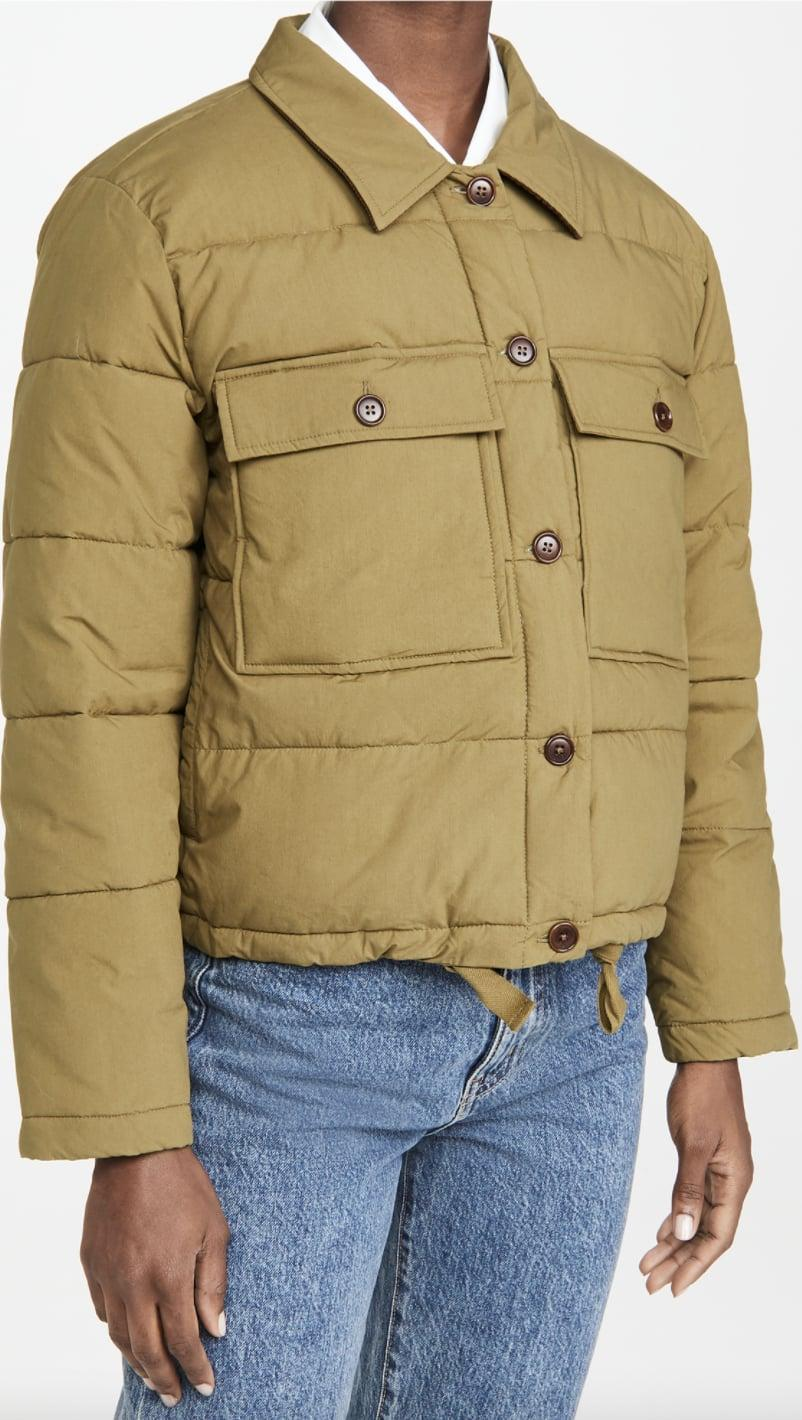 <p>This thick <span>Alex Mill Quilted Cropped Jacket </span> ($137, originally $195) will keep you warm.</p>
