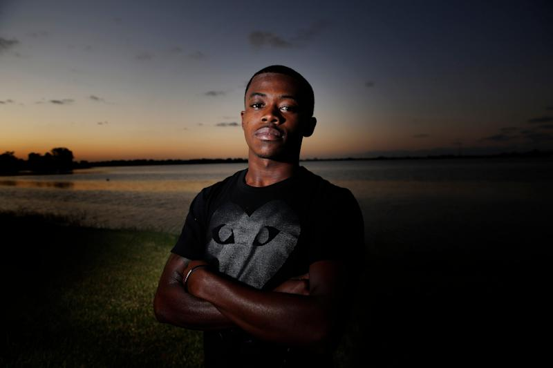 Deandre Somerville, 21, of West Palm Beach poses for a portrait on Thursday, Oct. 3, 2019, in West Palm Beach, Fla.