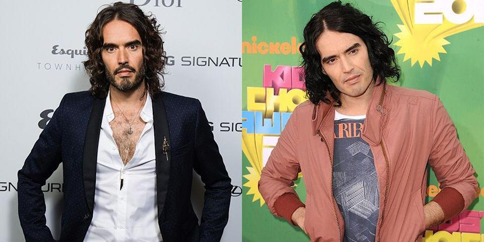 <p><strong>Signature: </strong>Deep V-neck button-ups</p><p><strong>Without Signature: </strong>At the 2011 Nickelodeon Kids Choice Awards in a crew neck t-shirt and a bomber jacket. </p>