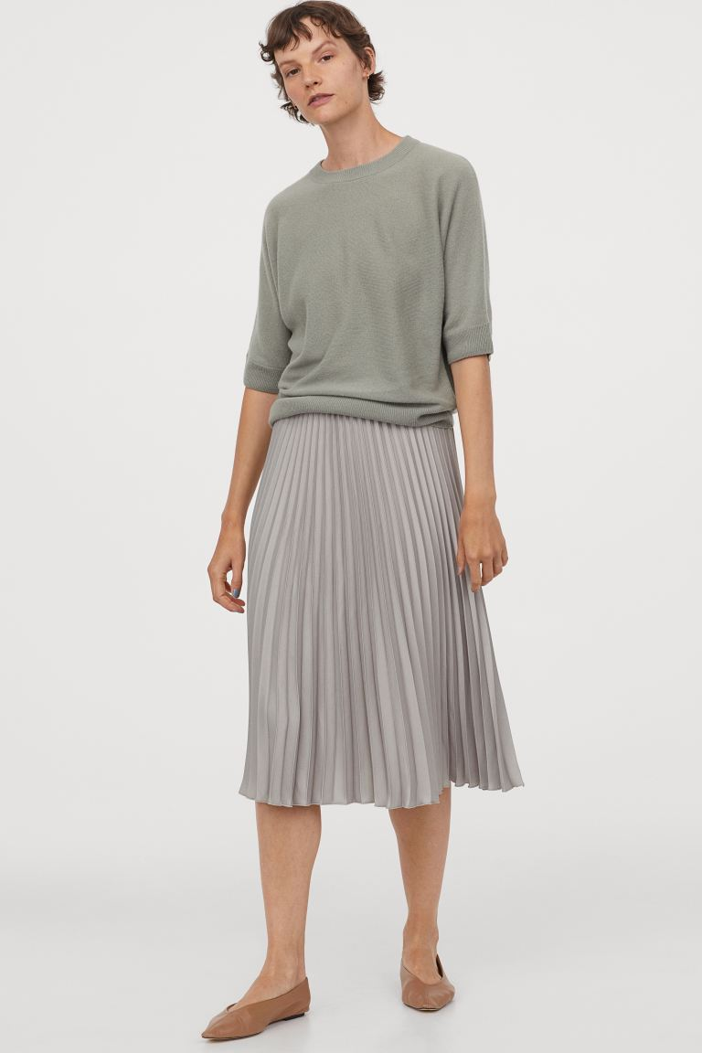"""<h3>H&M</h3><br><strong>Dates:</strong> Limited time<br><strong>Sale</strong>: <a href=""""https://www2.hm.com/en_us/sale/women/view-all.html"""" rel=""""nofollow noopener"""" target=""""_blank"""" data-ylk=""""slk:Up to 50% off select styles"""" class=""""link rapid-noclick-resp"""">Up to 50% off select styles</a><br><strong>Promo Code:</strong> None<br><br>There are some serious deals to be found within H&M's sale. From soft sweater basics for fall to cozy loungewear for spending more time indoors, this always-accessible retailer has you covered. <br><br><strong>H&M</strong> Pleated Skirt, $, available at <a href=""""https://go.skimresources.com/?id=30283X879131&url=https%3A%2F%2Fwww2.hm.com%2Fen_us%2Fproductpage.0851400011.html"""" rel=""""nofollow noopener"""" target=""""_blank"""" data-ylk=""""slk:H&M"""" class=""""link rapid-noclick-resp"""">H&M</a>"""