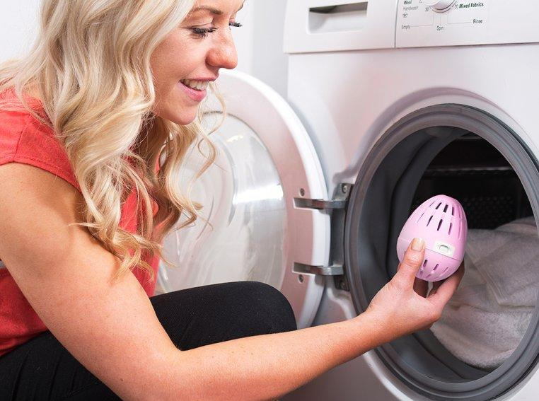 This is the Ecoegg Mineral Laundry Egg. (Photo: The Grommet)