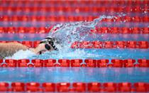 <p>USA's Katie Ledecky competes in the final of the women's 1500m freestyle swimming event during the Tokyo 2020 Olympic Games at the Tokyo Aquatics Centre in Tokyo on July 28, 2021. (Photo by Jonathan NACKSTRAND / AFP)</p>