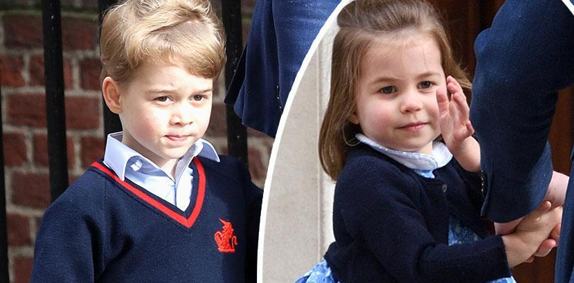 <p>George and Charlotte are too cute on royal baby visit</p>