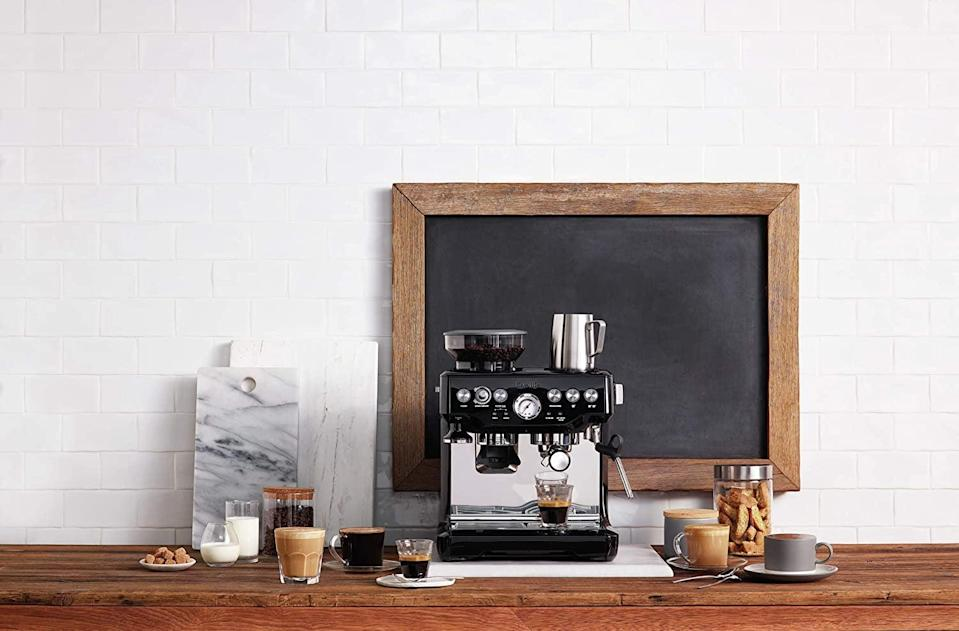 <p>If you're a coffee connoisseur, treat yourself to the <span>Breville BES870BSXL The Barista Express Coffee Machine, Black Sesame</span> ($700).</p>