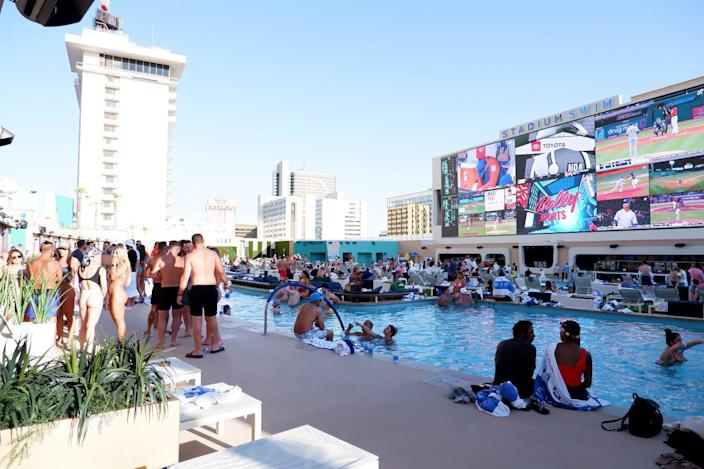 Enjoy the water and catch up on the latest sports at Circa's Stadium Swim.