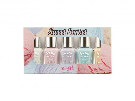 Pretty pastel shades scream summer and this Barry M set has excellent colour pay-off and a wide brush for easy application (Look Fantastic)